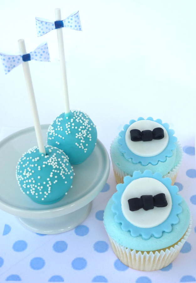 cup cakes and cake pops in daytona beach bow tie baby shower cupcakes
