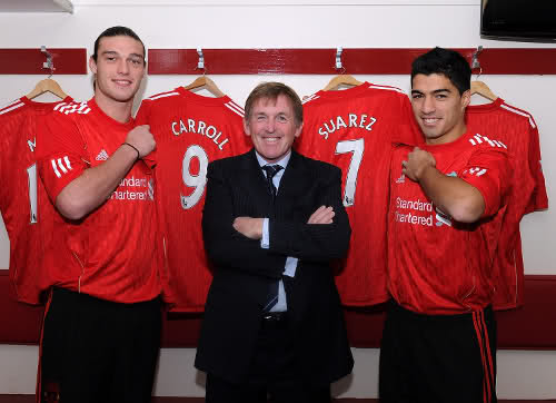 ¿Cuánto mide Andy Carroll? - Real height Suarez+and+carroll