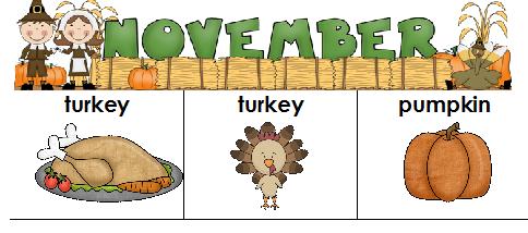 Kindergarten November Craft Template