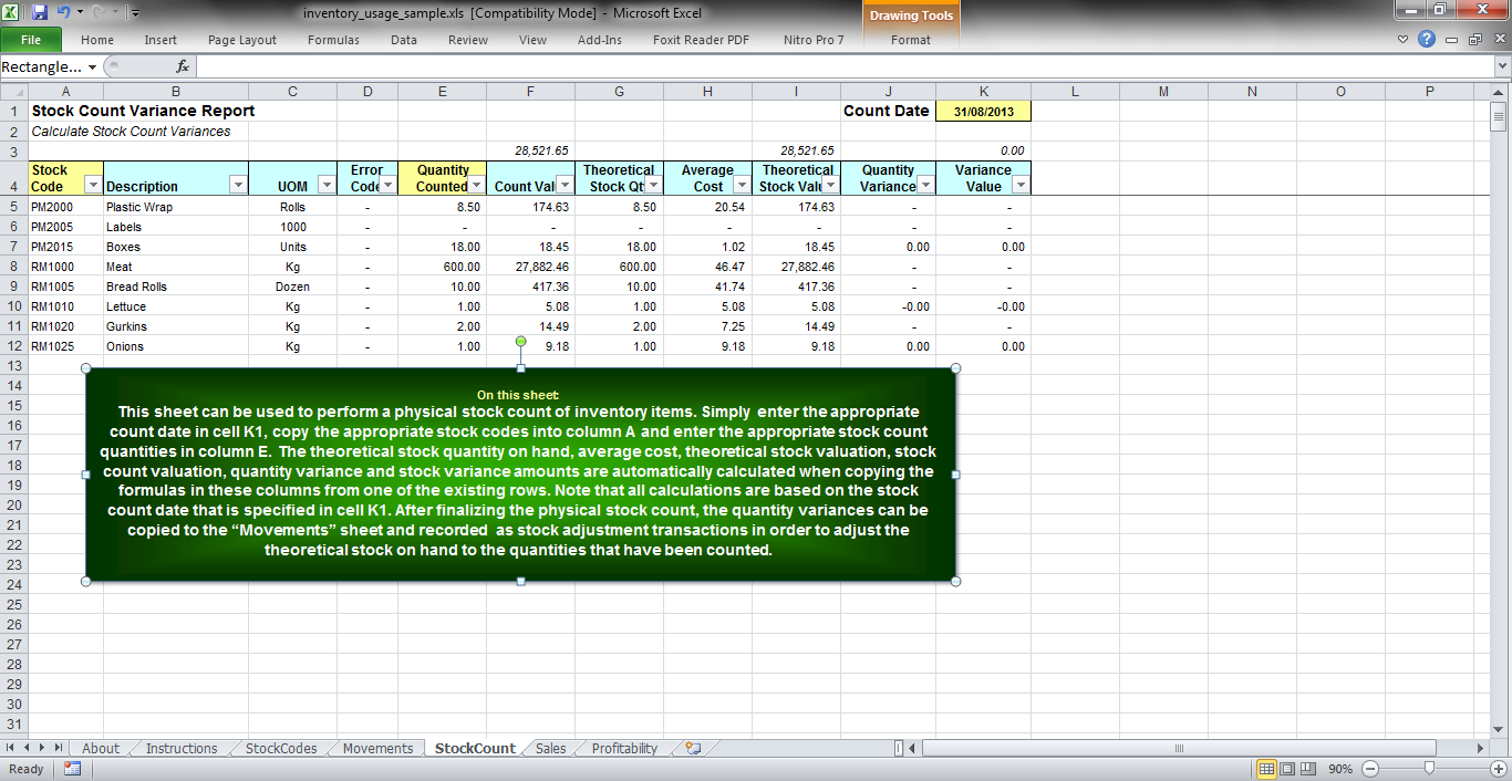 Supply Chain Management: Using Excel as an Inventory Management ...