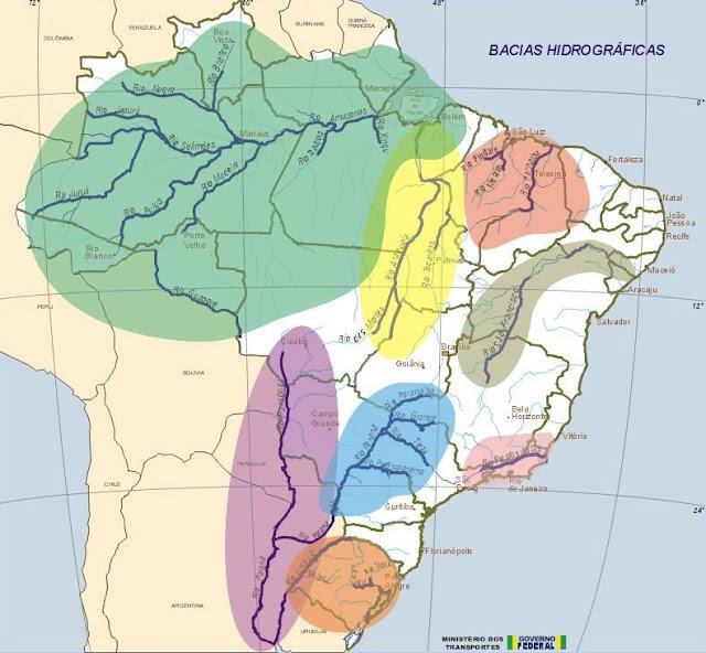 RIOS DO BRASIL - REGIÕES GEOGRÁFICAS BRASILEIRAS