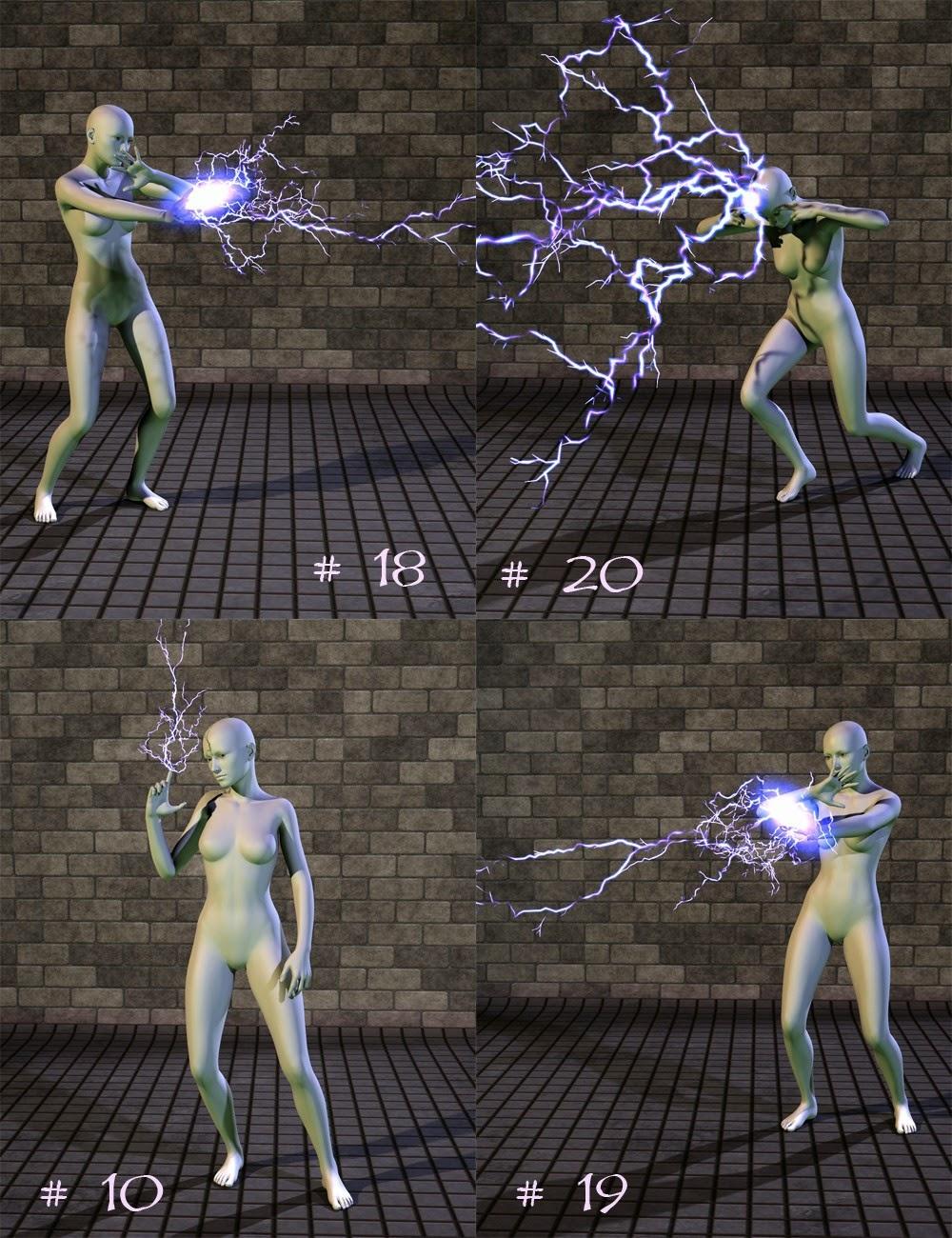 Electromancy Puissance Poses pour Genesis 2 Femme