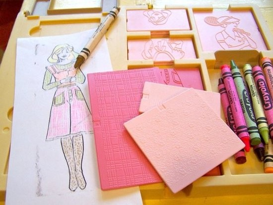 Fashion plates so every girl or boy could be a fashion designer