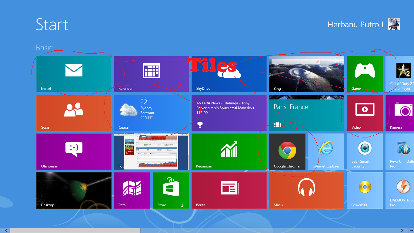 tiles windows 8