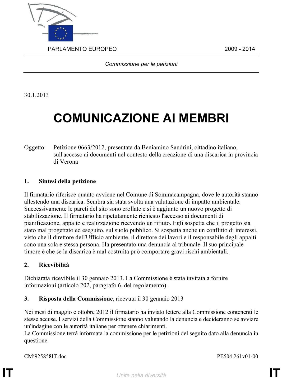 Parlamento europeo commissione per le petizioni for Dove si riunisce il parlamento italiano