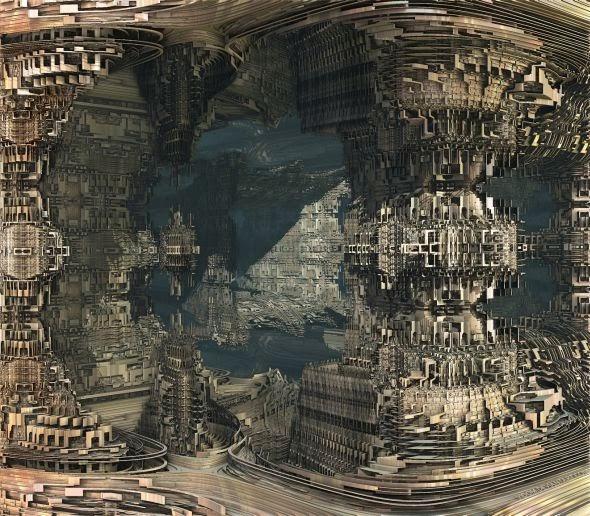 Vincenzo Bagni vidom deviantart ilustrações 3d fractais cenários