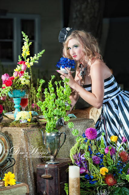 Makeup by Keri Ann _ A Different Bloom _ Bright flowers _ vintage styling