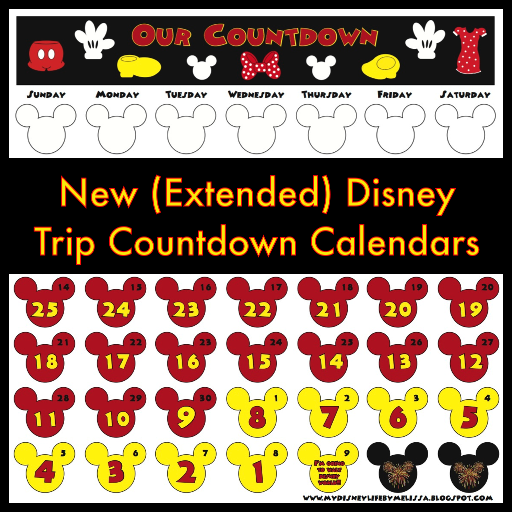 my disney life new countdown calendar. Black Bedroom Furniture Sets. Home Design Ideas