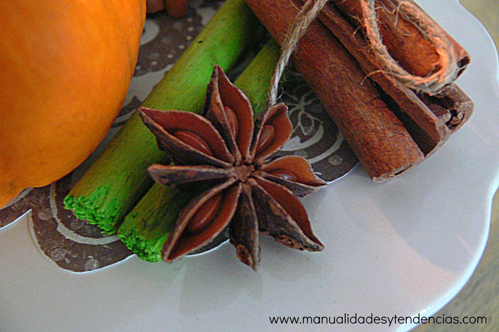 Centro de mesa oto al casero autumn centerpiece handbox craft lovers comunidad diy - Centros de mesa navidenos caseros ...