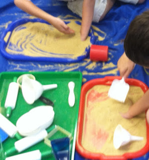 individual sand play for kindergarten (Brick by Brick)
