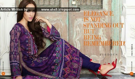 Firdous Summer Lawn Print for Elegance