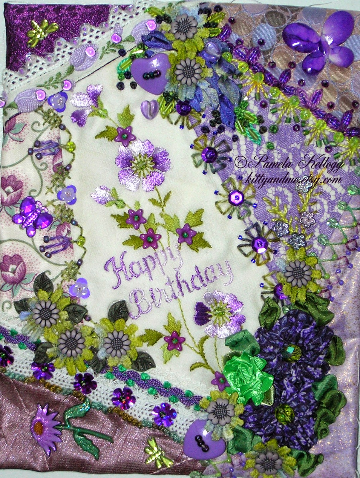 Kitty And Me Designs Happy Birthday Cotton