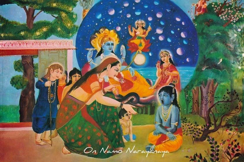 கண்ணன் கதைகள் (34) - யசோதை கண்ணன் வாயில் பிரபஞ்சம் கண்டது, கண்ணன் கதைகள், குருவாயூரப்பன் கதைகள்,