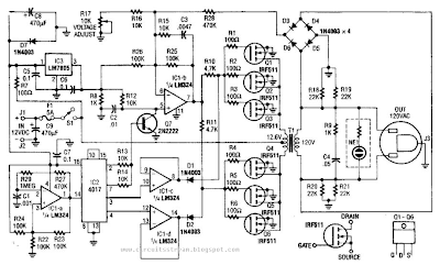 40W 120Vac Inverter Circuit Diagram