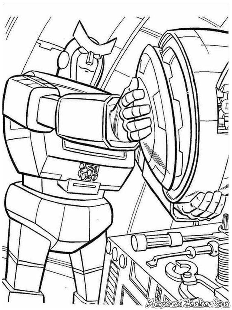 Mewarnai Robot Transformer | Mewarnai Gambar