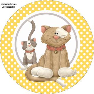 Kit Festa Tema Gatos Para Imprimir Grátis