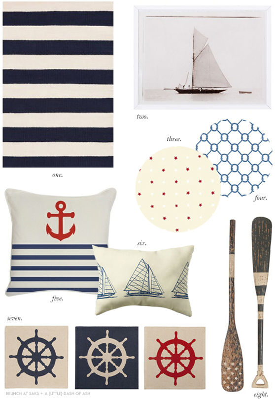 Coastal style nautical decor for Home decor accessories