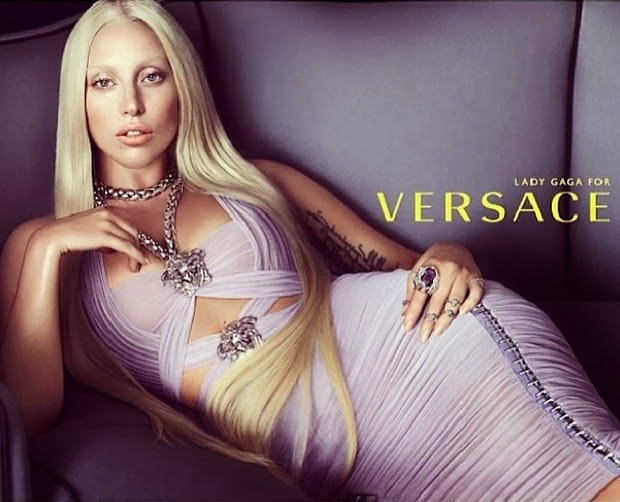 Lady Gaga for Versace's Spring 2014 Campaign