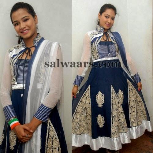 Classic Blue Lace Salwar