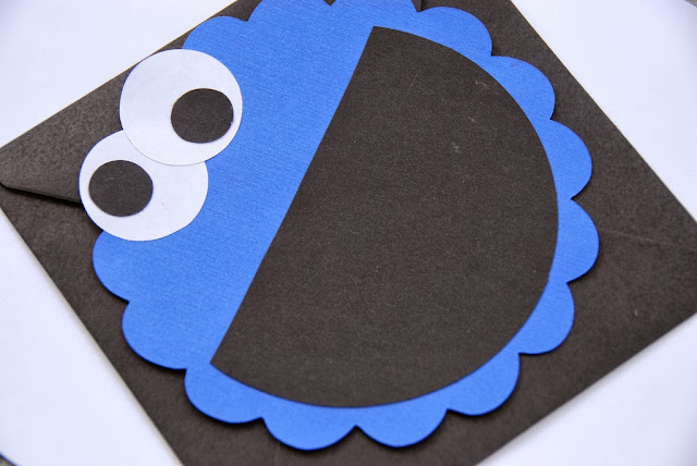 cookie monster paper invitations