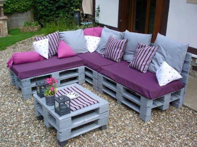 Diy ideas con palets para jardines y exteriores for Ideas con palets para jardin