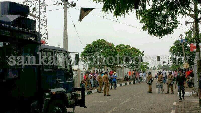 University Students Protest Kelaniya March to Colombo