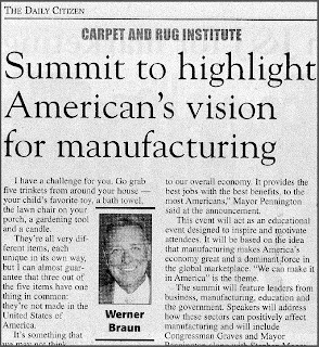 2011 Manufacturing Summit Spotlights Carpet: Werner Braun