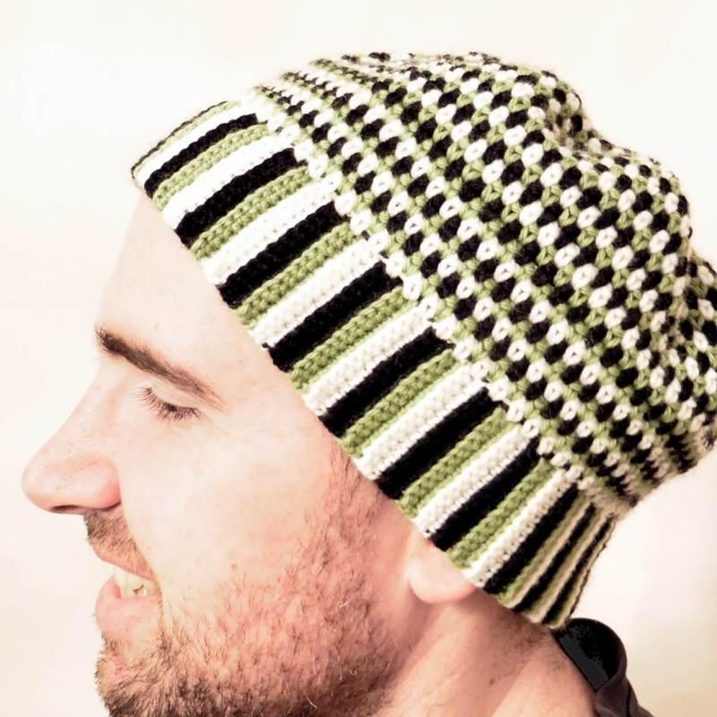 tejer gorro hombre unisex crochet ganchillo