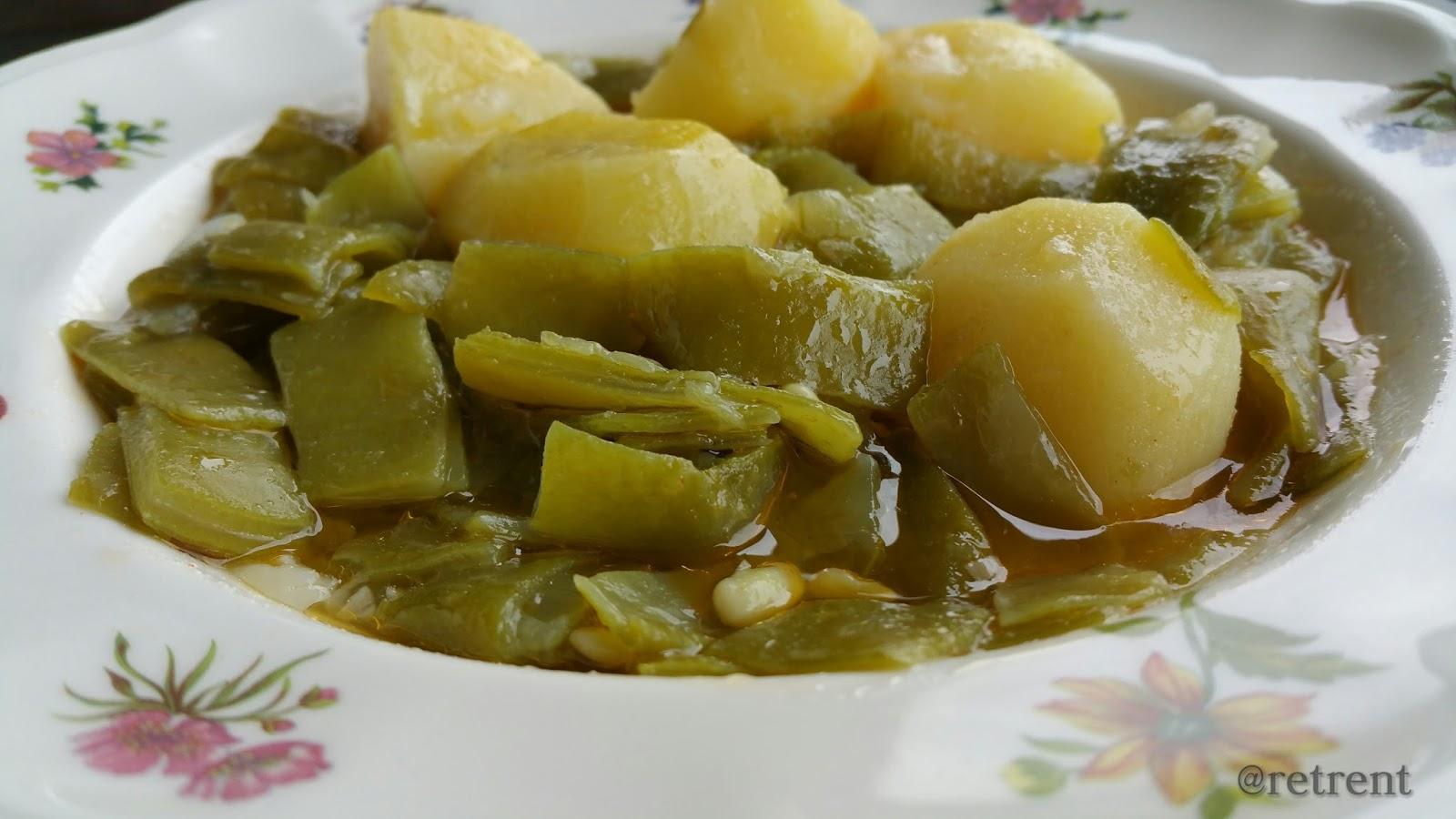 Recetas de pu o y letra jud as verdes con patatas fr joles verdes con patatas - Judias con chorizo y patatas ...