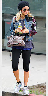 Style Athletics Celebrity Gym Fashion Nicole Richie