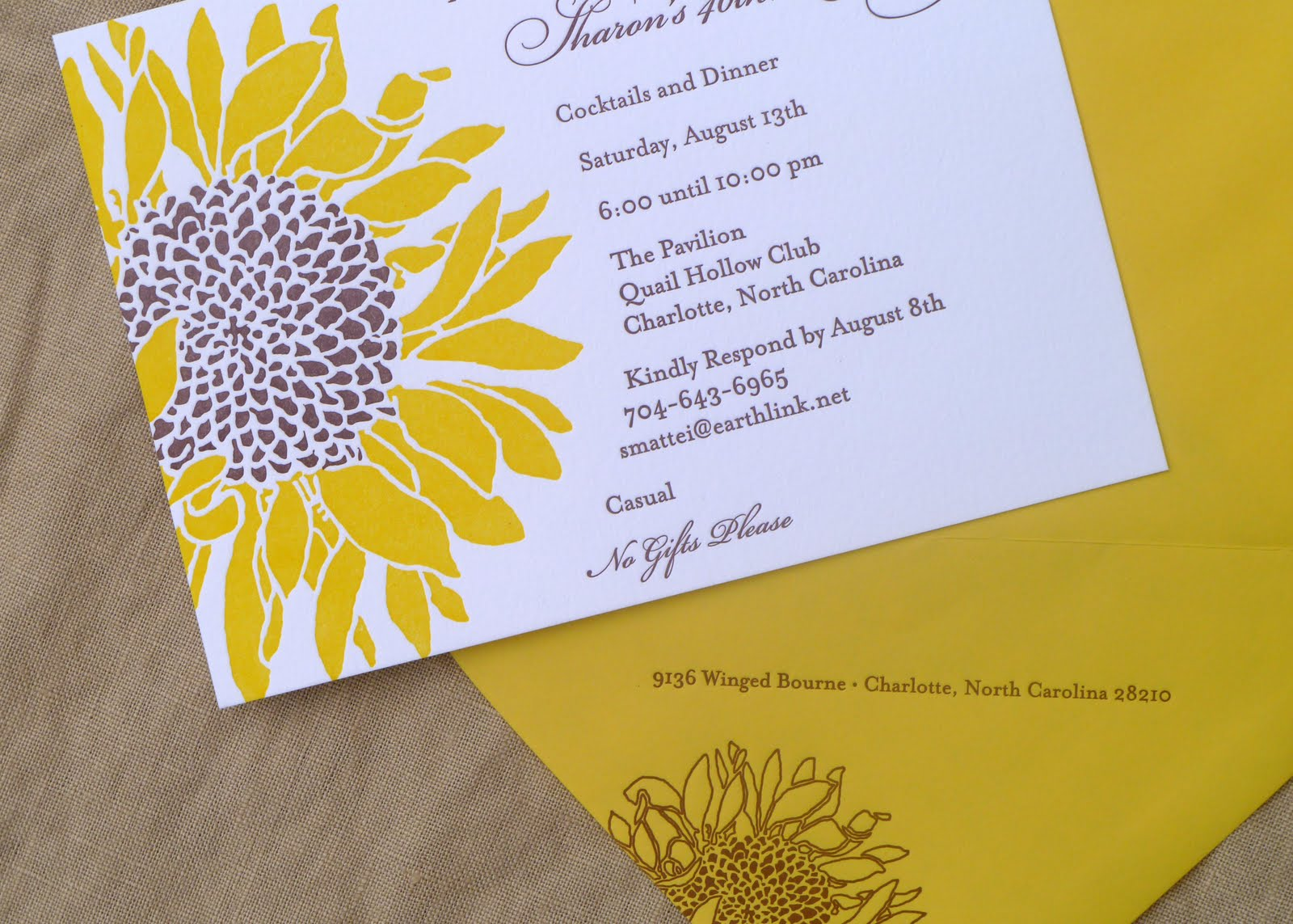 The Wedding-phile: IN THE STUDIO // SUNFLOWER INVITATION