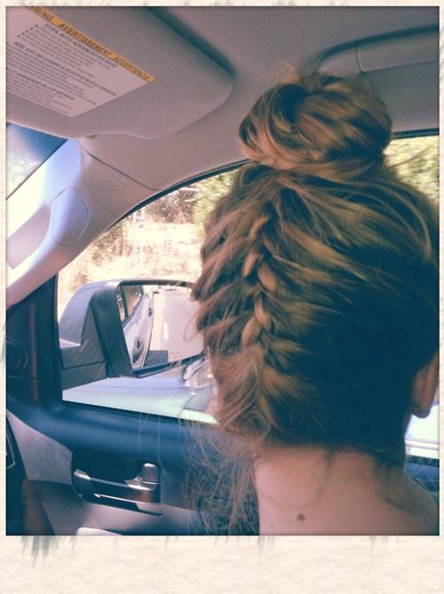 Upside down french braid bun tumblr