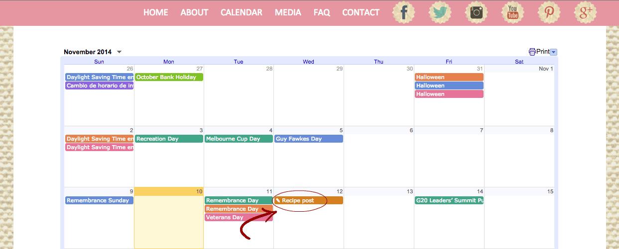 au pair calendar blog