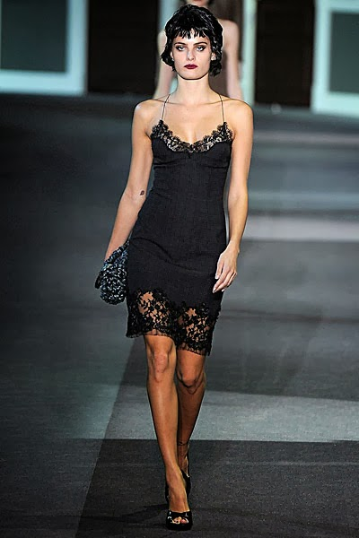 Wool silk tartan and lace dress by Louis Vuitton