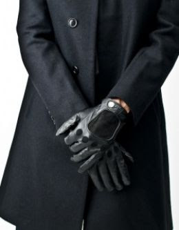 see men in leather gloves