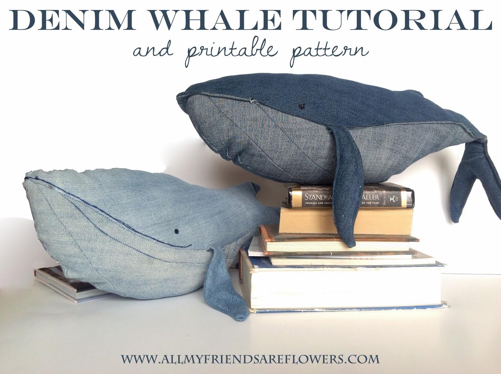 Denim Whale Tutorial & Printable Pattern