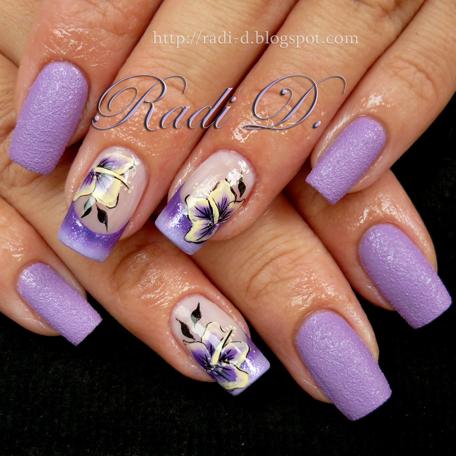 It`s all about nails: Lilac Sand & One Stroke Flowers