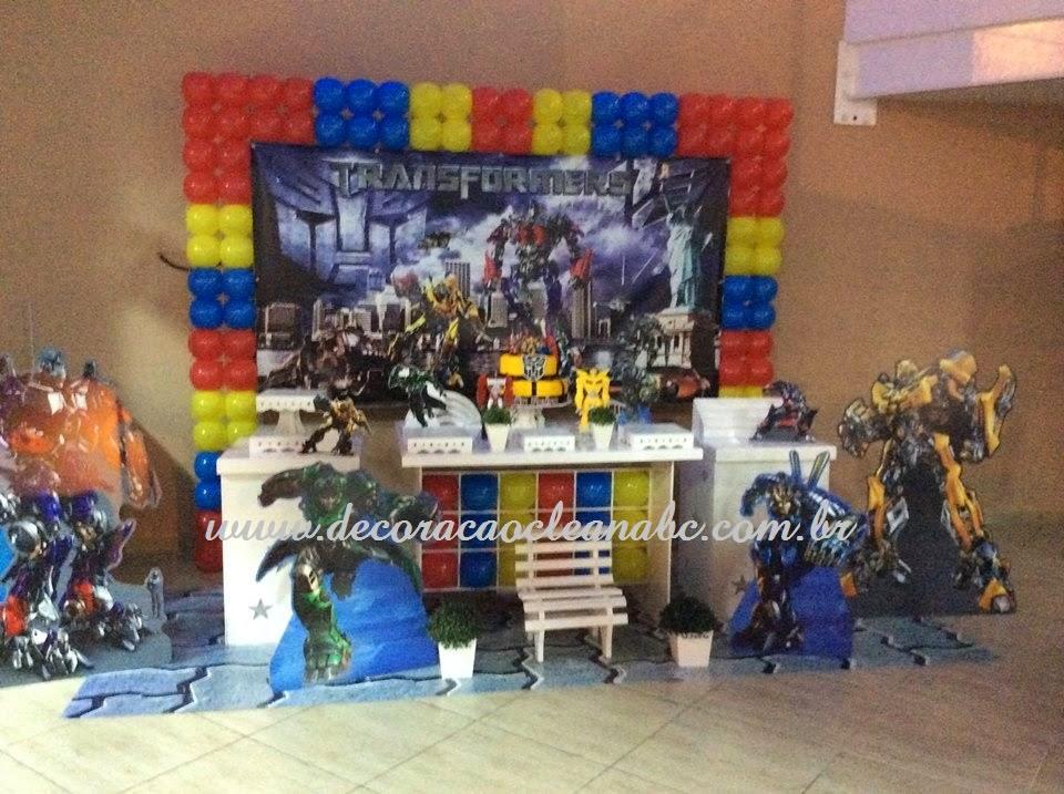 decoracao festa transformersDecoração Clean ABC Decoração Clean