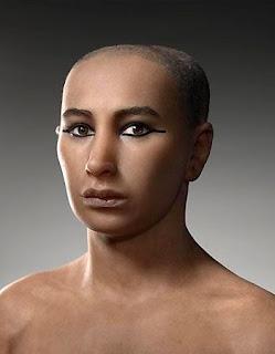 Reconstrucción de la cara de Tuntankamón realizada por científicos frances, estadounidenses y egipcios