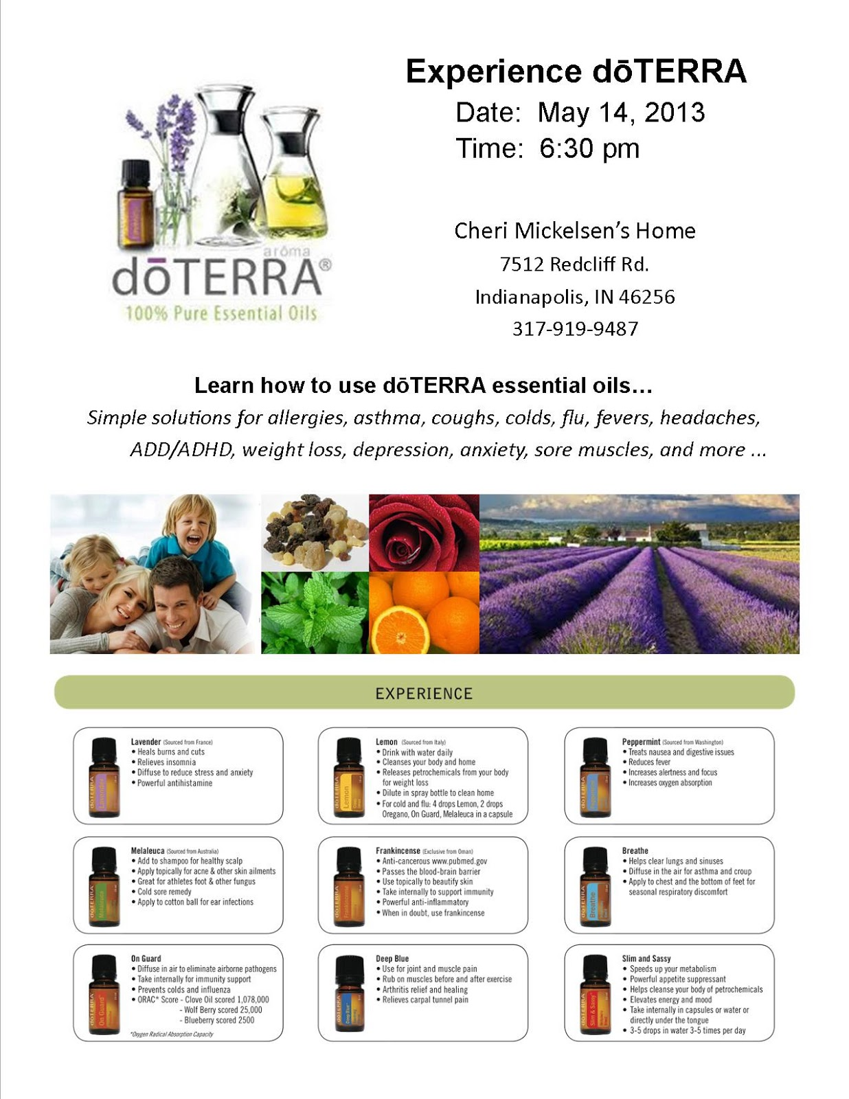Essential Sunshine My first doTerra Essential Oils Class