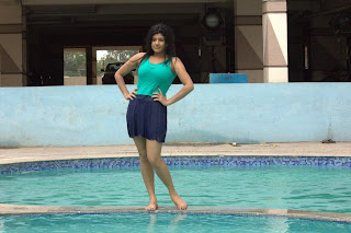 Shona Chabra hot still in parking movie in swimming pool