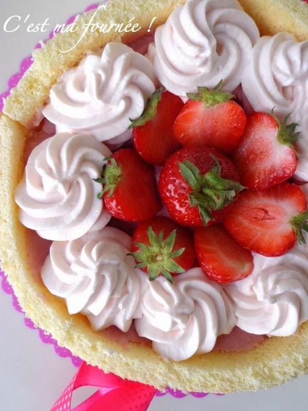 La charlotte fraises grenadine d'Olivier Bajard