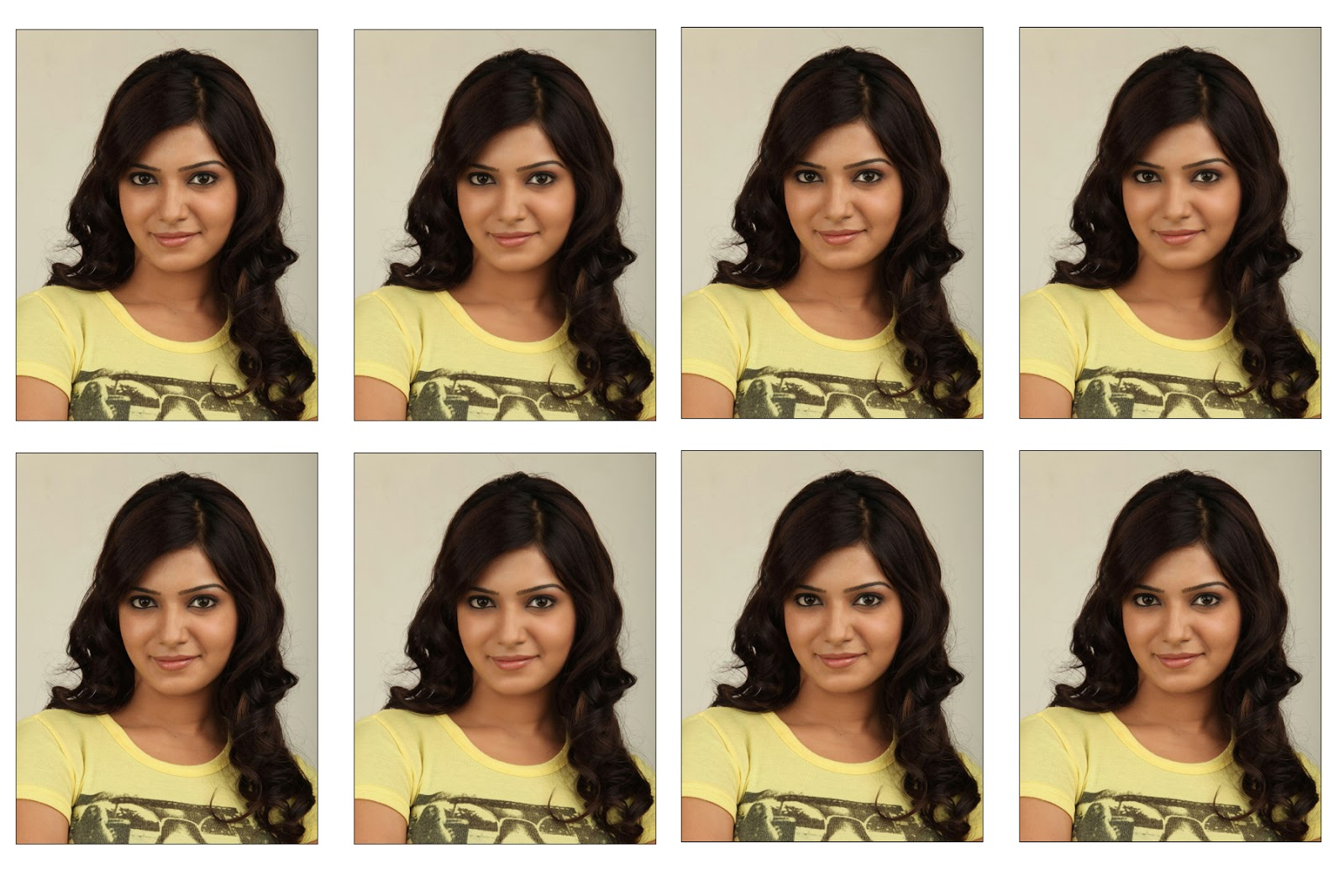 Making of 8 passport size photos in single maxi studywithdemo step baditri Image collections