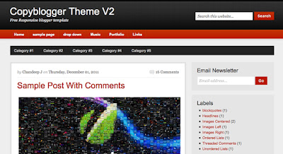 Copyblogger blogspot template