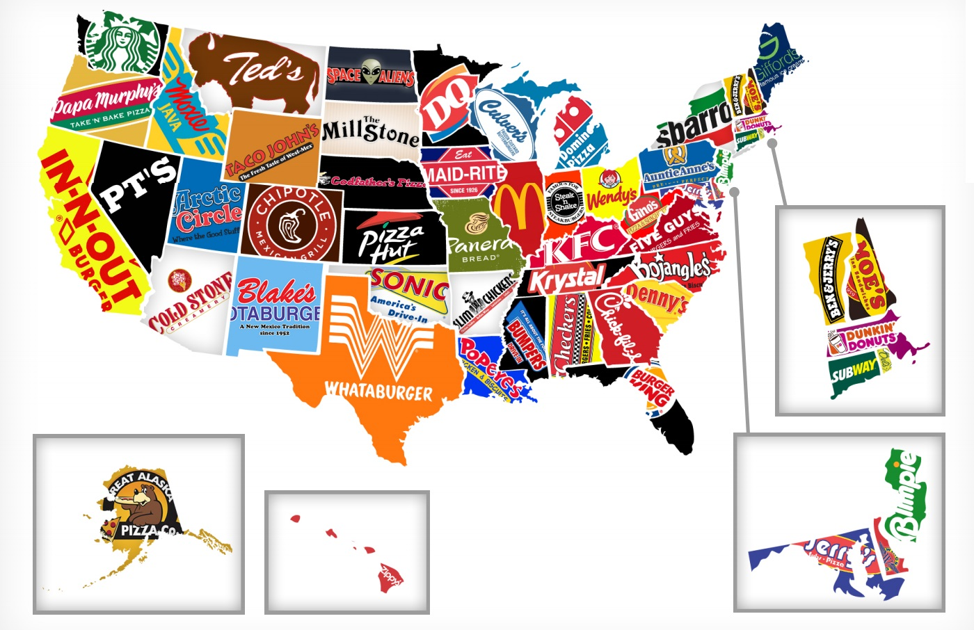 Interesting Stuff Online US Fast Food Map
