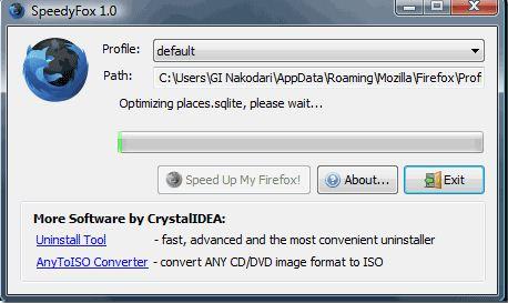 Speedyfox Optimizing Process Screenshot