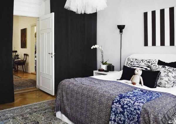 Dise o de dormitorios en blanco negro dormitorios con estilo - Dormitorios blanco y negro ...