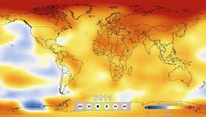 Temperaturas Globales  de 1880 a 2011