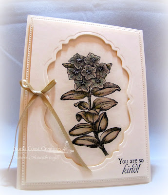North Coast Creations Stamp sets: Floral Sentiments 7, Our Daily Bread Designs Custom Dies: Flourished Star Pattern, Vintage Labels