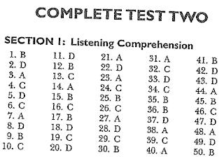 Kunci Jawaban Complete Test Two 02 Longman TOEFL ITP